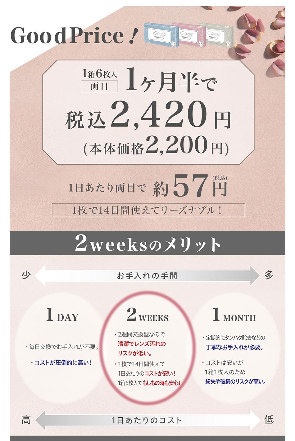 エルージュeRouge 2weeks メリット詳細