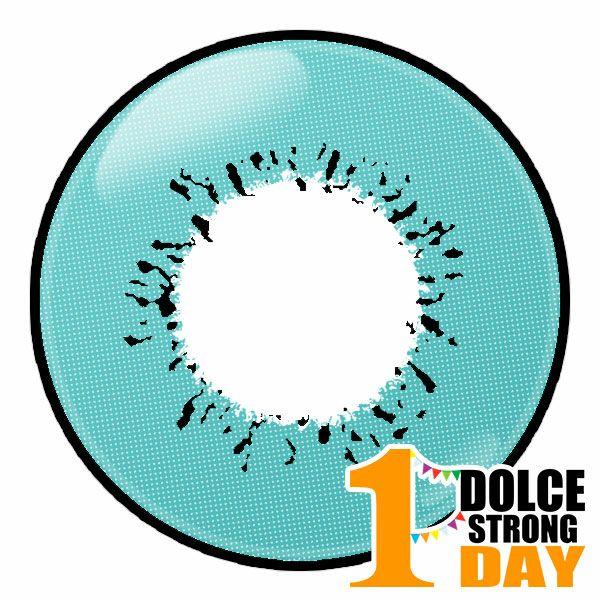 ドルチェ ストロングワンデー ブルーアクア レンズ画像 コスプレカラコン通販アイトルテ